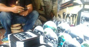 un pintor en la calle de Maliboro, Yogyakarta